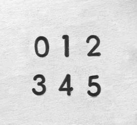 Deco - cijfers, 1,5mm