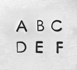 Deco - hoofdletters, 1,5mm