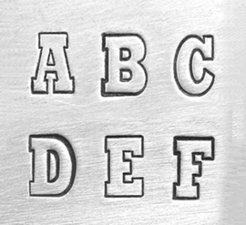 Varsity - hoofdletters, 6mm