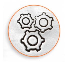 Gears, set van 3 stempels, 4, 6 en 9,5mm (ImpressArt)