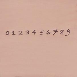 Bradley - cijfers, 3mm