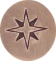 Compass Rose, 6mm  (UrbanBeader)