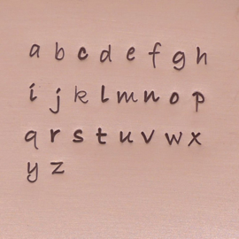 Bradley - kleine letters, 3mm