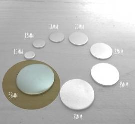 Aluminium 1,5mm dik - Rond 32mm (10 stuks)