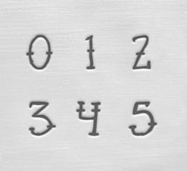 Sailor - cijfers, 4mm
