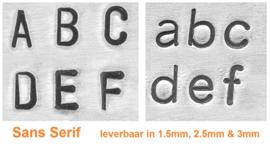 Startpakket basic - lettertype Sans Serif 3mm