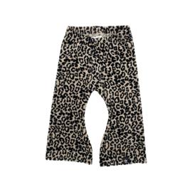 Flared | Velours Leopard Zand