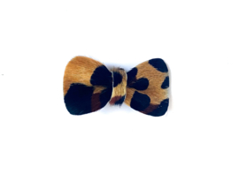 Small Bow Pin Leopard