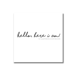 Kraambezoekboek | Hallo, Here i am!