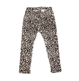 Legging | Velours leopard zand