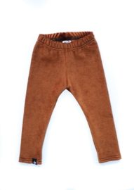 Legging | Ribvelours Chestnut
