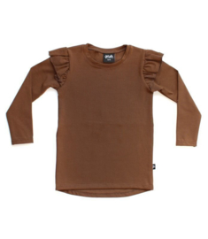 Ruffled Longsleeve | Brown