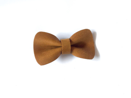 Small Bow Pin Cognac