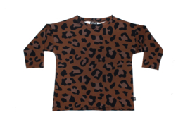 Oversized Tee | Leopard Brown