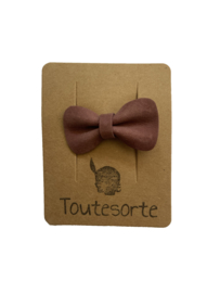 Small Bow Pin Mauve