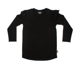 Ruffle Tee | Basic Black