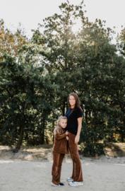 Mommy Flared | Velours Bruin
