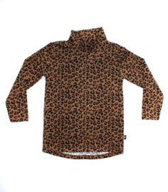 Longsleeve Col   Leopard Toffee
