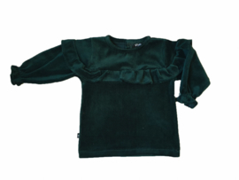 Ruffle Blouse | Velours Green