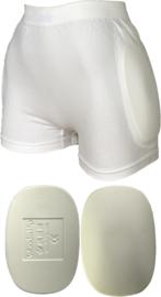 Heupbeschermer WonderHip® wit (1 stuk unisex ondergoed incl. heupbeschermers)