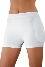 Korting set: WonderHip® heupbescherming wit (3 stuks unisex ondergoed + 1 paar heupbeschermers)