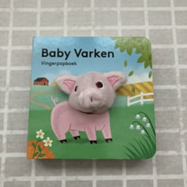 Vingerpopboekje baby varken