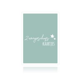 Bewaarbundel zwangerschapskaartjes blauw sterren