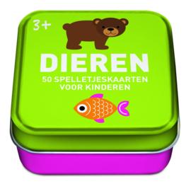 50 spelkaarten voor kinderen thema Dieren