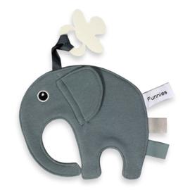 Labeldoekje olifantje Ollie grey/blue