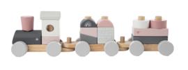 Label Label trein roze-grijs