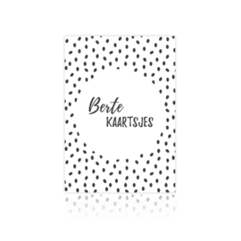 Bewaarbundel bertekaartsjes zwart/wit