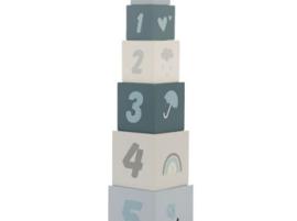 Label Label stapelblokken blauw