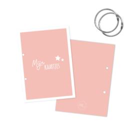 Bewaarbundel mijn kaartjes roze met sterren