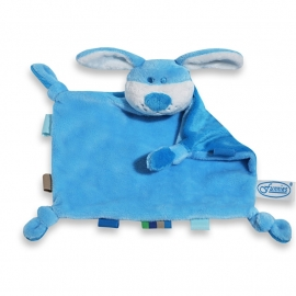 Knuffelhondje blauw