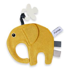 Labeldoekje olifantje Ollie oker