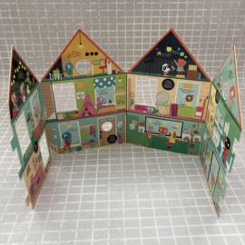 Pop-up huis boek en speelhuis