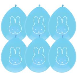 Nijntje ballonnen 6 stuks blauw