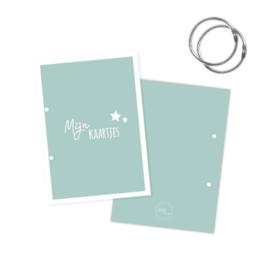 Bewaarbundel mijn kaartjes blauw met sterren
