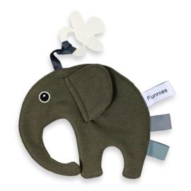 Labeldoekje olifantje Ollie forest green