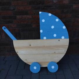 Geboorte wiegje/kinderwagen blauw