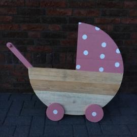 Geboorte wiegje/kinderwagen roze