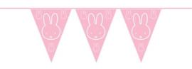 Nijntje vlaggentjeslijn roze 10 meter