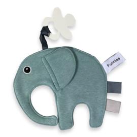 Labeldoekje olifantje Ollie stone green