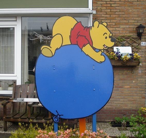 Wonderbaarlijk Geboortebord Winnie the Pooh   Geboorteborden en ooievaren WO-09