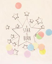 CONFETTI CARD A STAR IS BORN  - THE GIFT LABEL