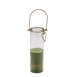 CANDLE TUBE FRANK LIGHT GREEN