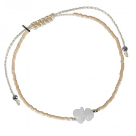 TREASURE ROCKS PULL BRACELET MOONSTONE FINE - PIMPS AND PEARLS