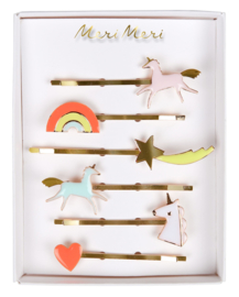 UNICORN ENAMEL HAIR SLIDES - MERI MERI