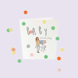 CONFETTI CARD BABY 'BABY ON IT'S WAY' - THE GIFT LABEL