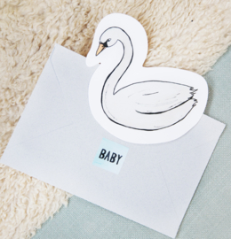 CUT OUT CARD SWAN - THE GIFT LABEL